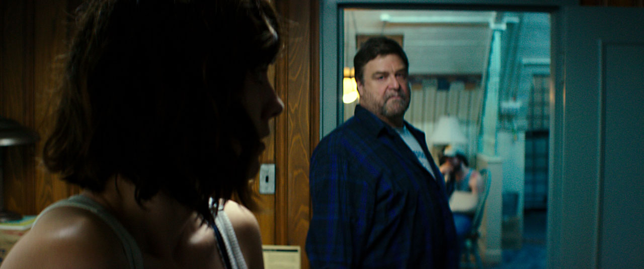 John Goodman as Howard, Mary Elizabeth Winstead as Michelle in 10 CLOVERFIELD LANE, by Paramount Pictures
